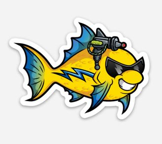 AGRO Lazerfish Sticker/Magnet/Cling - AQUAPROS