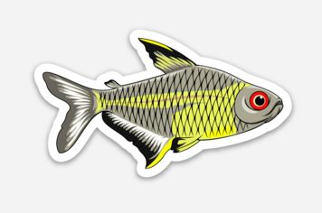 Lemon Tetra Sticker/Magnet/Cling - AQUAPROS
