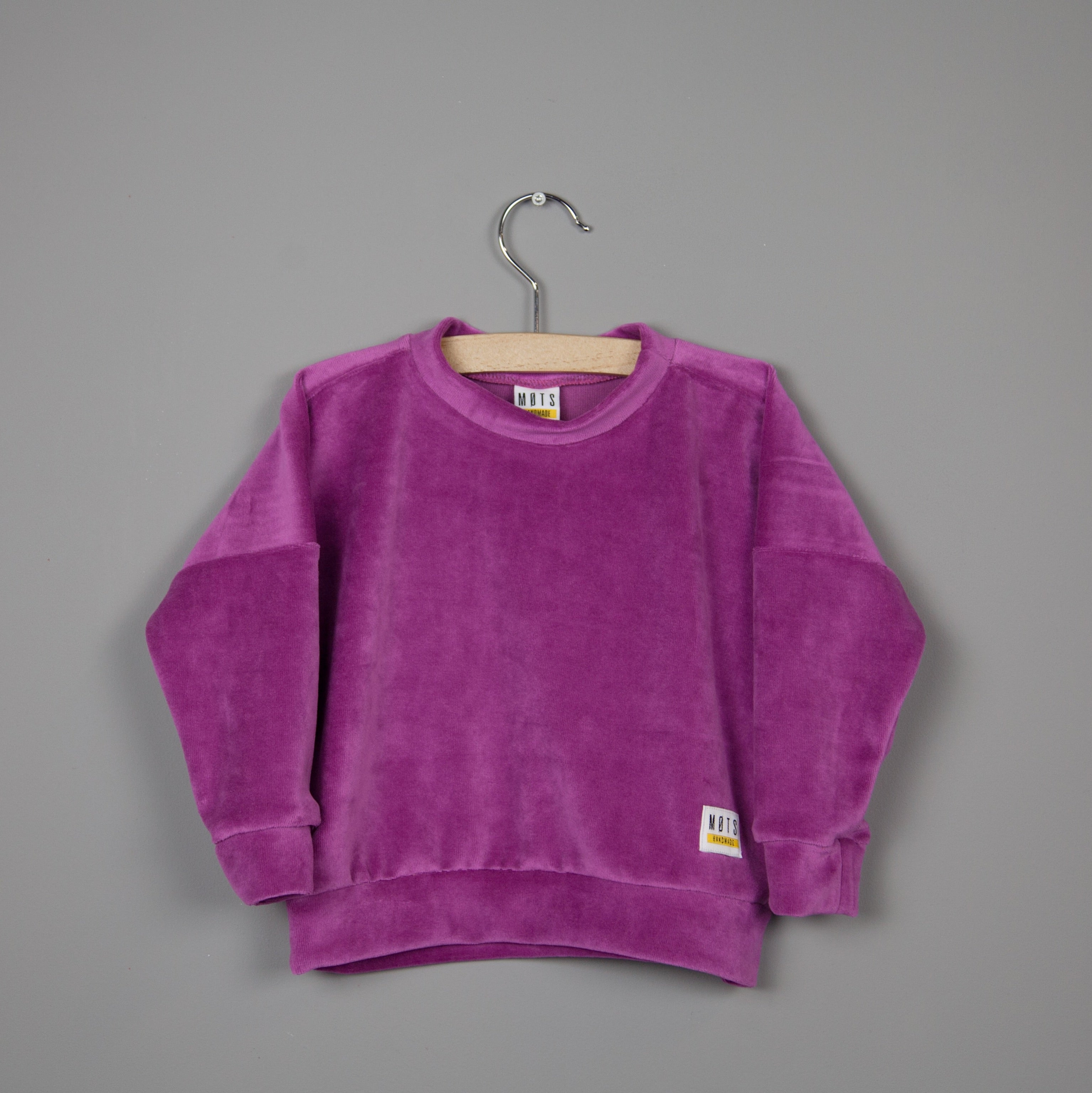 Fuchsia Velvet Sweater