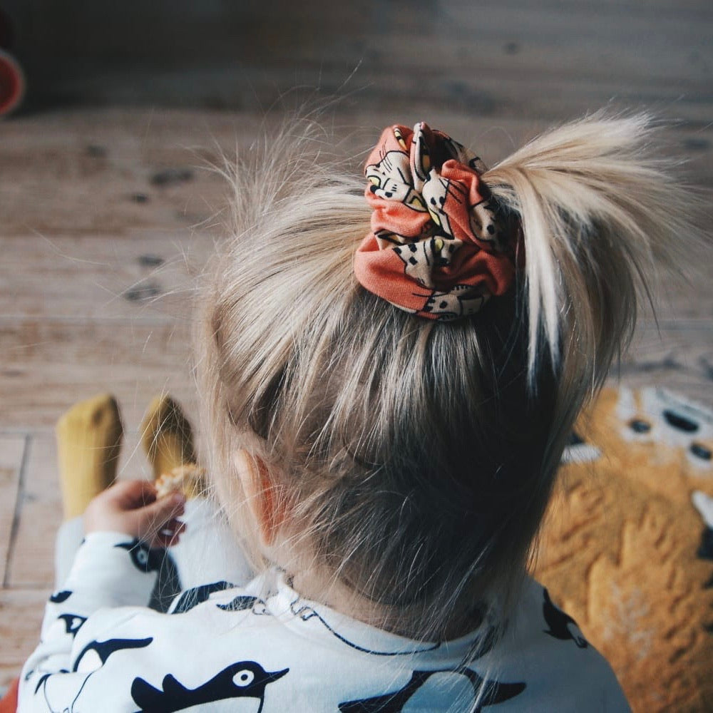 NO WASTE Scrunchie Cheetah