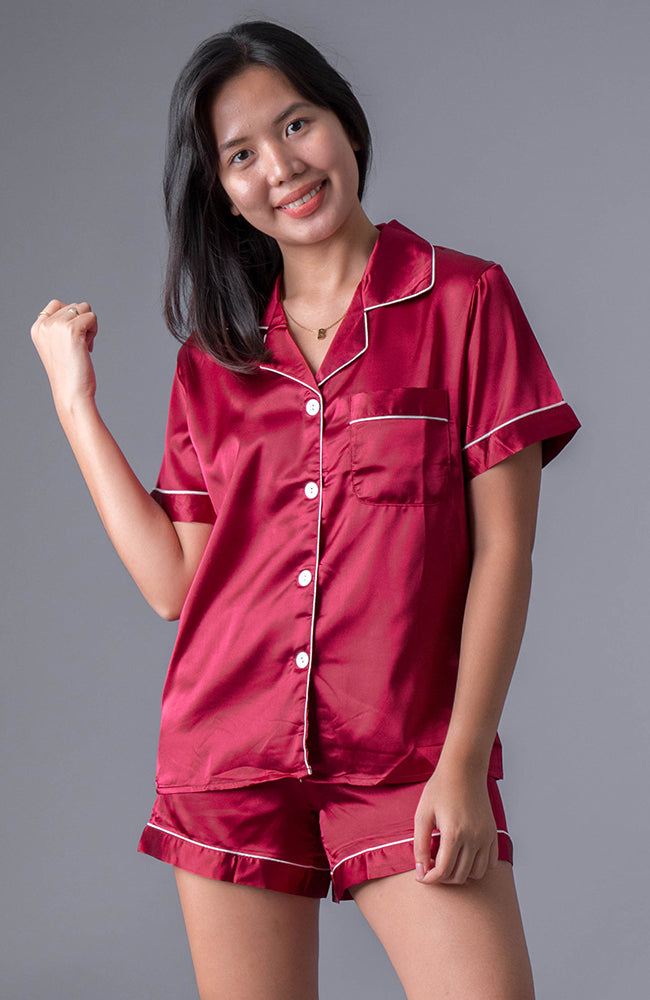 Silk Sleepwear - Red