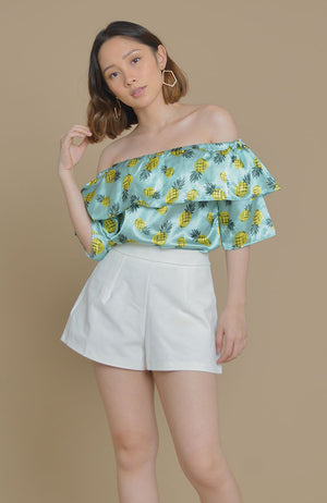 Pineapple Satin Top