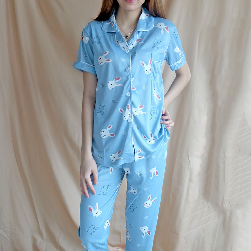 Cotton Sleepwear - Blue Bunny