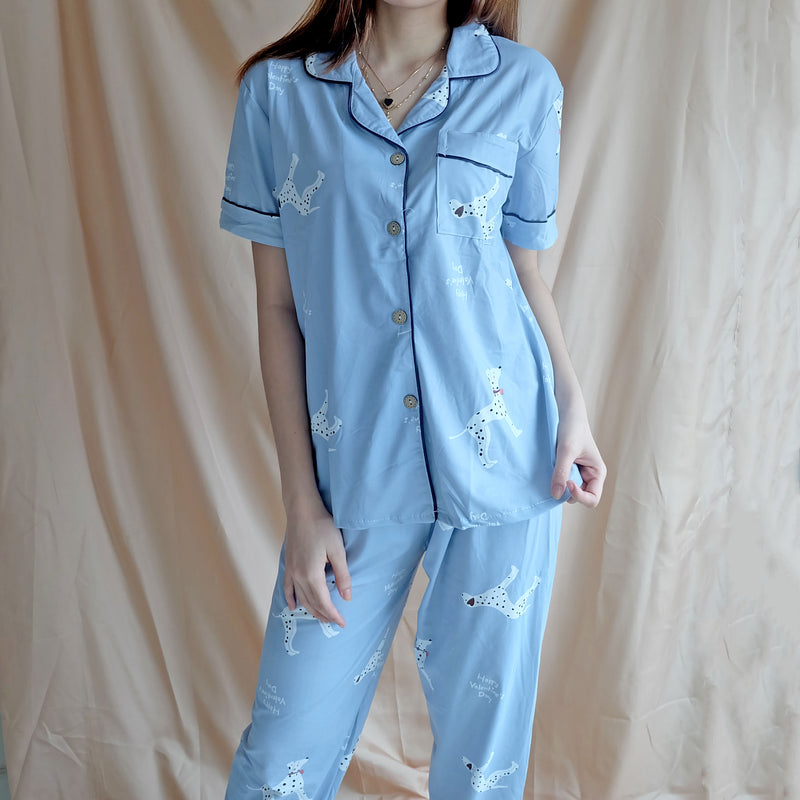 Cotton Sleepwear - Blue Dalmatian