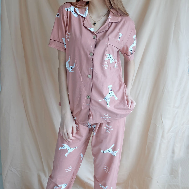 Cotton Sleepwear - Pink Dalmatian