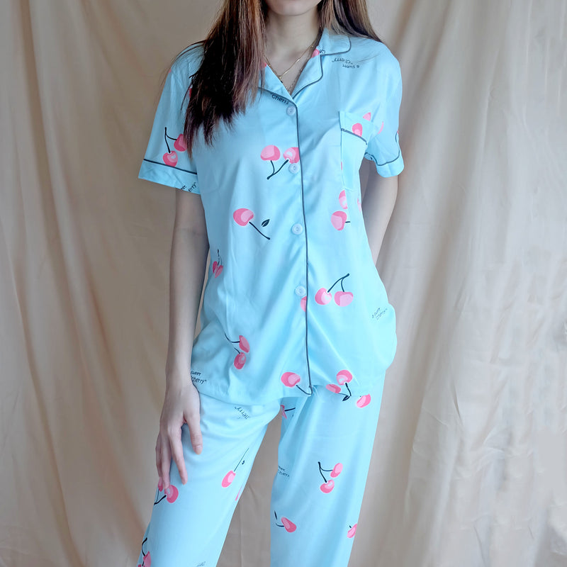 Cotton Sleepwear - Blue Cherry
