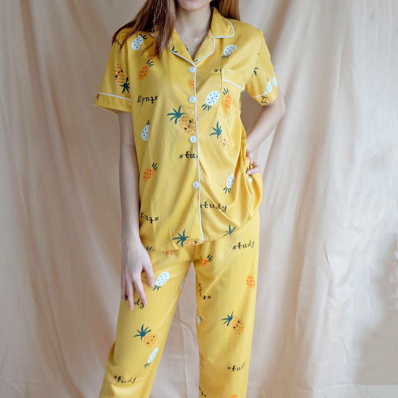 Cotton Sleepwear - Yellow Pineapple