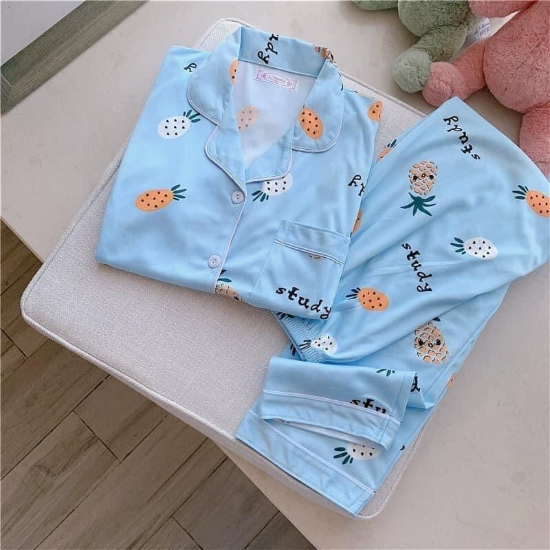 Cotton Sleepwear - Blue Pineapple