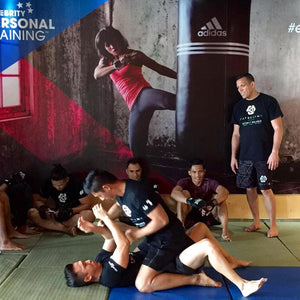 Martijn de Jong teaching Tatsujin Mixed Martial Arts at Celebrity Fitness in Bali, Indonesia