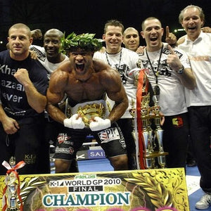 Alistair Overeem winning the K1 World Grand Prix in Tokyo, Japan