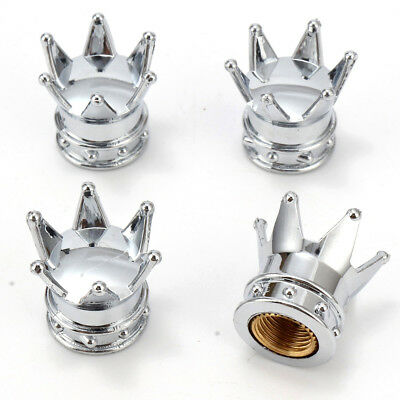 4 x Tire Silver Crown Valves