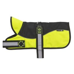 Reflective Black Hi-Viz Padded Dog Harness Coat by Animate