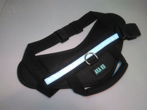 BLACK Harness for Dog Vest Breathable and comfortable mesh pet dog Nylon Easy Walk Dog harness