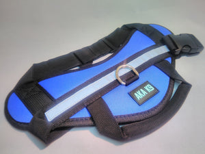 BLUE Harness for Dog Vest Breathable and comfortable mesh pet dog Nylon Easy Walk Dog harness