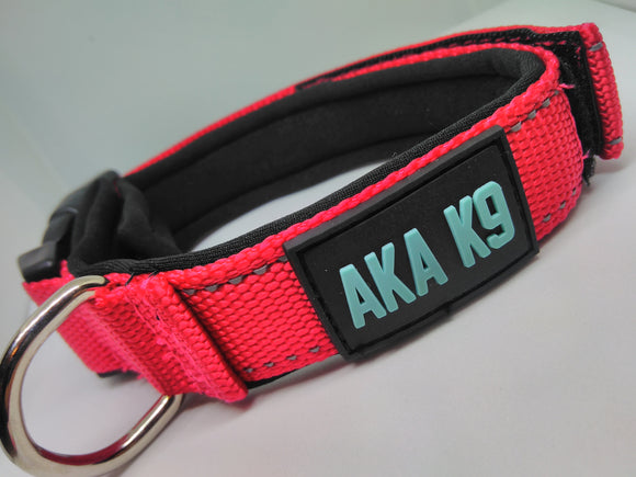 AKA K9 Red padded dog collar pet range