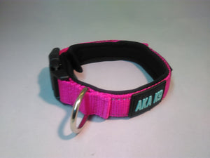 AKA K9 Pink padded dog collar pet range