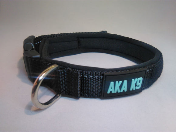 AKA K9 Black padded dog collar pet range