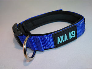 AKA K9 Blue padded dog collar pet range
