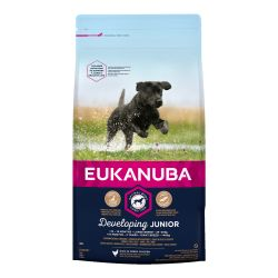 EUKANUBA Developing Junior Large Breed Rich In Fresh Chicken