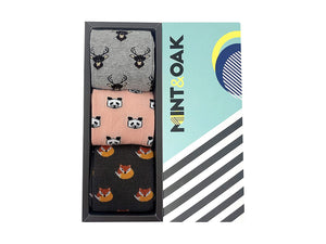 Gift Box Of 3 Socks - Animal Kingdom For Men