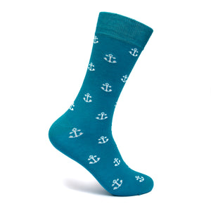 ANCHORMAN MEN CREW SOCKS | men socks- Mint & Oak