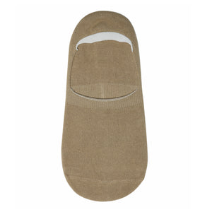Beige No Show Socks For Men