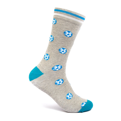 Football print socks men