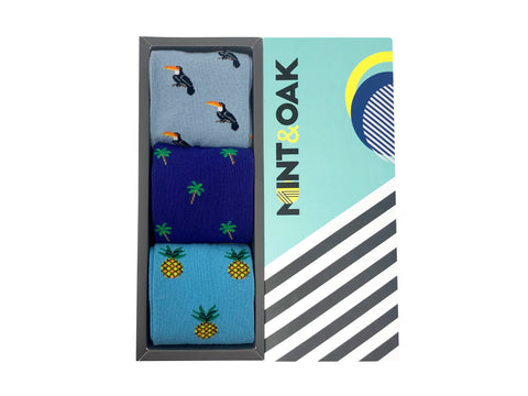 Gift Box Of 3 Socks - Tropical For Men
