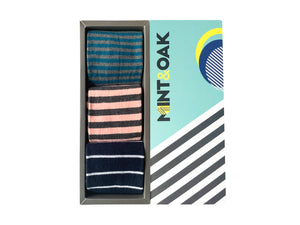 Gift Box Of 3 Socks - Stripes For Men