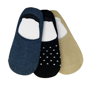 Set Of 3 No Show Socks For Men