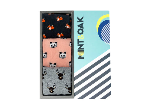 Gift Box Of 3 Socks - Animals For Men