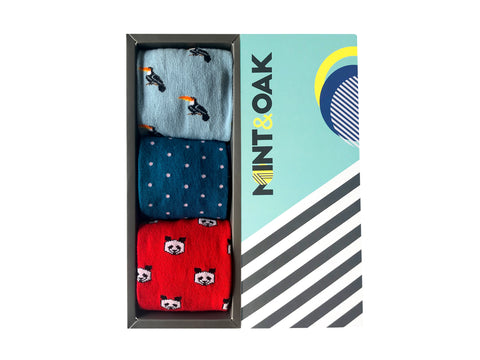 Gift Box of 3 - Climb & Fly - Mint & Oak