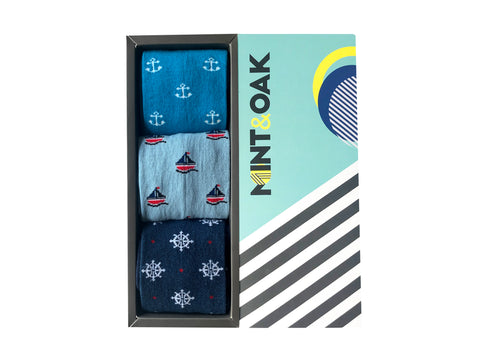 Giftbox of 3 - Ahoy Mate - Mint & Oak