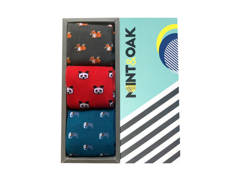 Gift Box of 3 - Panda - Mint & Oak