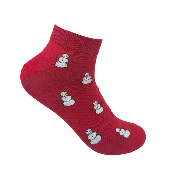 Mr. Snowman Ankle Socks For Men