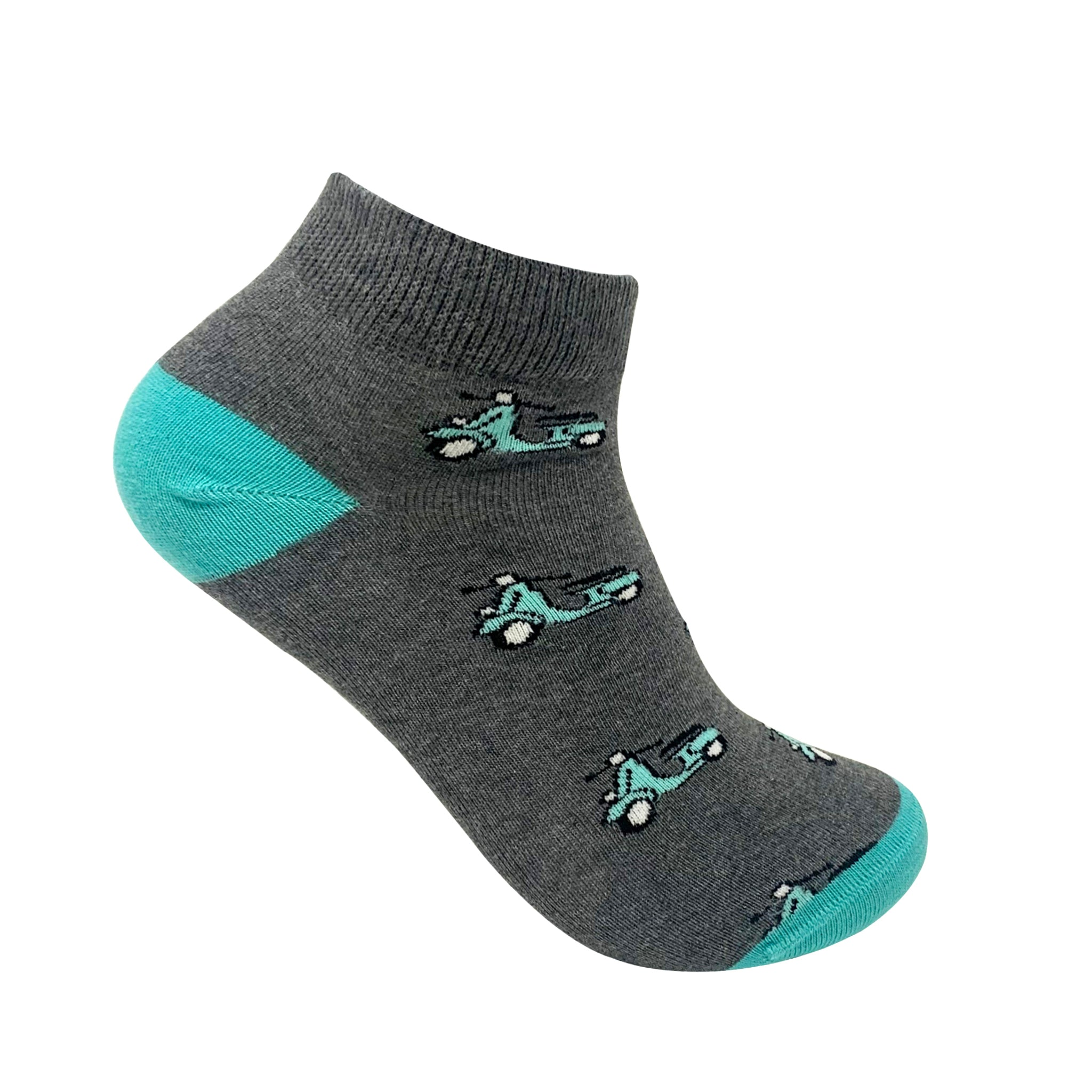 Scoot-Over Ankle Socks For Men