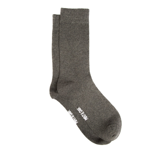 Melenge grey solid socks