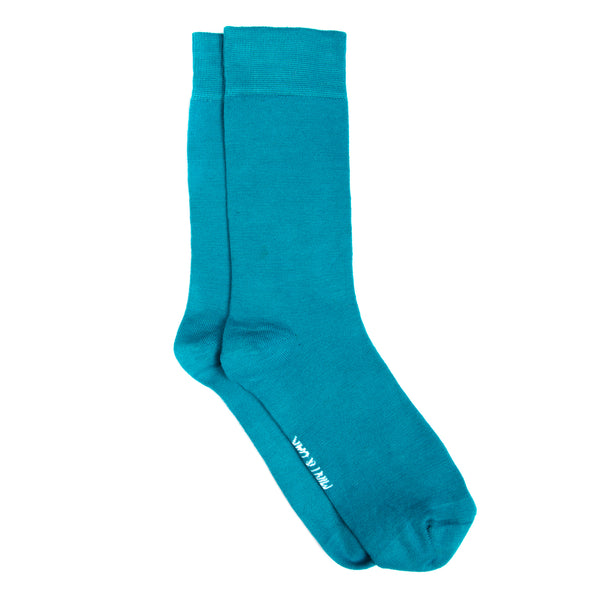 Funky blue mens socks