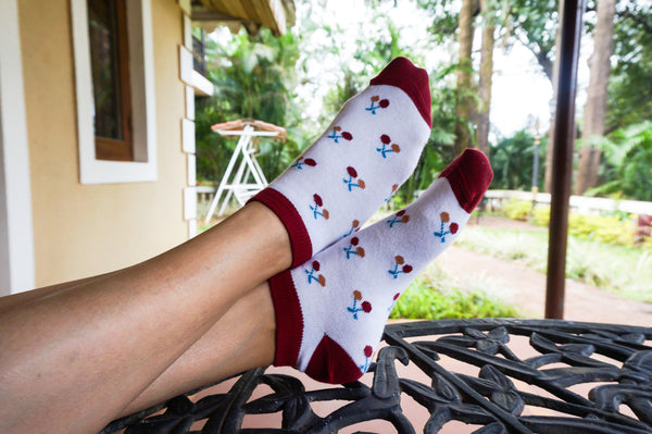 Feelin' Cherry-Fic Socks For Women