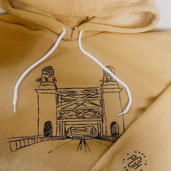 Sixteenth St. Bridge Hoodie Collaboration Local Illustrator and Artist, C.B Perry (@cbperry_)