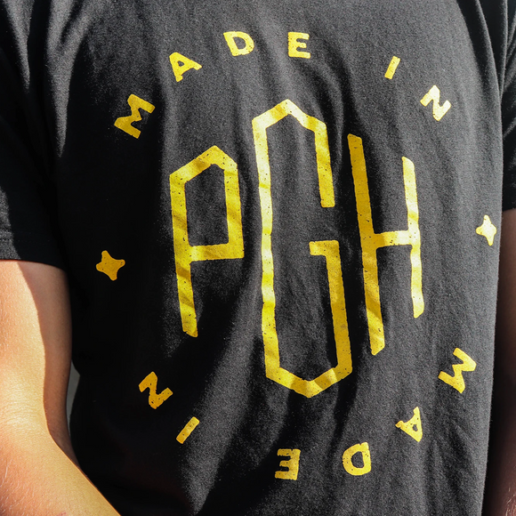 Black Made in PGH x PlanetHEMP Hemp Short Sleeve T-Shirt
