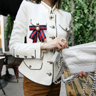 Vintage Long Sleeve Stand Collar Jacket