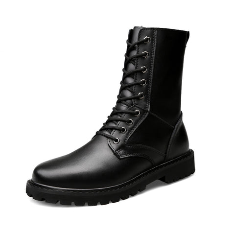 Casual Waterproof Thick High Men's Long Tube Tooling Martin Boots