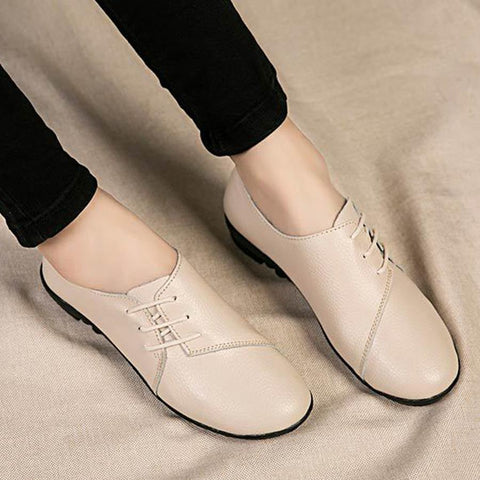 Plain  Flat  Round Toe  Casual Office Comfort Flats