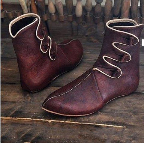 Vintage Contracted Men's Pure Color Pointed Toes Ankle Boots