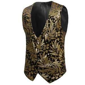 Glossy Hot Stamping Suit Vest