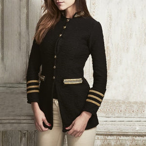 Formal Single-Breasted Striped Long Sleeve Jacket