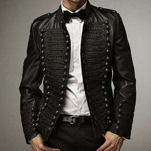 Fashion Pure Color Long Sleeve Single-Breasted Jacket