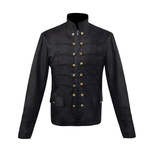Retro Solid Color Double Breasted Zipper Jacket
