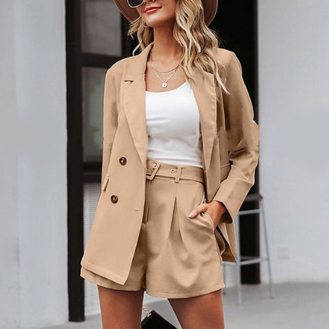 Casual Pure Colour Loose Blazer